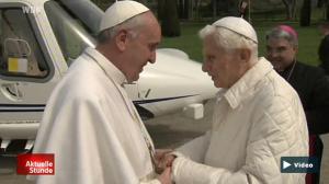Screenshot: Papst Franziskus und Ex-Papst Benedikt XVI